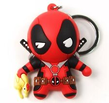 "Marvel Collectors Figural Keyring DEADPOOL SERIES 2 - RUBBER CHICKEN 3"" Keychain"