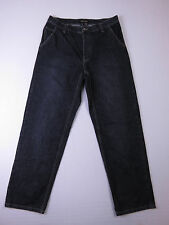 E-042 MENS COUNTRY ROAD DARK STONE WASH REG FIT DENIM JEANS SIZE 34 BUTTON FLY