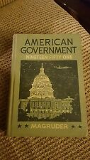 American Government Nineteen Fifty One 1951 Hardcover Book Magruder