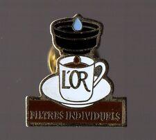 Pin's Café / Filtres individuels - l'or