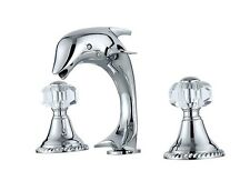 Chrome clour widespread bathroom Lavatory Sink dolphin faucet crystal mixer tap