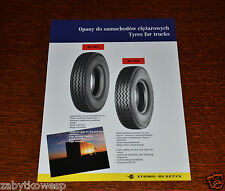 PROSPEKT BROCHURE  STOMIL-OLSZTYN TYRES FOR TRUCKS