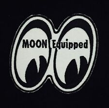 "Racing MOON Equipped Vintage Embroidered Iron On Patch (NOS) 3"" x 3"" RARE MINT"