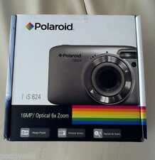 BRAND NEW SEALED POLAROID IS624 COMPACT DIGITAL CAMERA 16MP 6X ZOOM BLACK