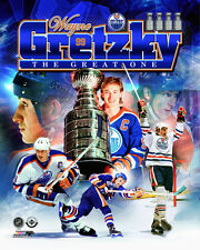 Wayne Gretzky THE GREAT ONE Edmonton Oilers Career 1978-88 Premium POSTER Print