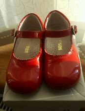 Girls red Mary Jane patent shoes size 23 excellent condition