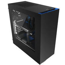 NZXT Source 340 Nero Blu USB 3.0 HD Audio PC TOWER CASE Inc Side Window & Tifosi