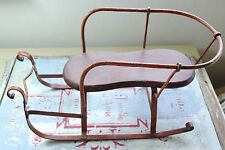 VINTAGE SLED TOY - OLD SMALL SNOW SLED TOY - MINI  SLED - VINTAGE TOY
