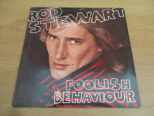 ROD STEWART - FOOLISH BEHAVIOUR Vinyl LP Album UK 1980 Classic Rock RIVA RVLP 11