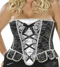 Sexy Sparkle Corset Burlesque Pirate Wench Fancy Dress Size 16 - 18 P6593