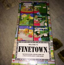 Very Rare Finetown Driver Education Driving Board Game NIB