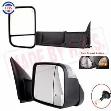 Power Heated Telescoping Towing Mirror For 98-01 Dodge Ram 1500 98-02 2500 3500
