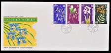New Hebrides Condominium First Day Cover FDC 1973 Orchid Series