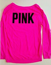 Victoria's Secret PINK Shirt Dog Long Sleeve Top Size Small Hot Pink EUC