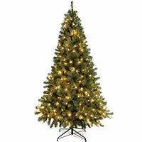 Colorado Green Spruce Pre-Lit Christmas Tree 250 Warm White LED Lights  7FT