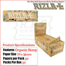Rizla Natura Natural Unbleached Hemp Regular Rolling Papers - 1 Full New Box