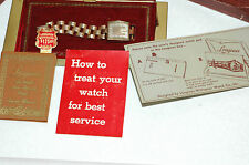 Vintage 1940 Longines Mens watch in Original box with Papers and Tags Running