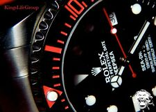 ROLEX Deep Sea KingsLife Limited ROSSO RED Black Edition DLC / PVD 116660