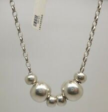 "This is a beautiful sterling silver ball link  pendant with 17"" belcher chain"