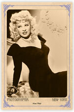 Early Screen Legend MAE WEST Vintage Photograph A++ Reprint Cabinet Card CDV