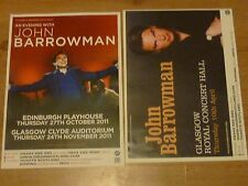 John Barrowman Scottish tour concert gig posters x 2