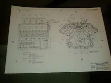 Copy of 3 original Ford Cosworth blueprints for DFV Formula 1 engine Lotus