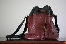 Vintage DOONEY & BOURKE all Leather Burgundy Drawstring Bucket Bag