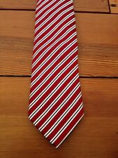 "Countess Mara Striped 100% Silk Red White Striped Classic 3.25"" Wide Tie"