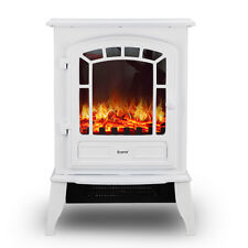 Econo® White 2000W Log Burning Effect Electric Fire Stove Heater Fireplace