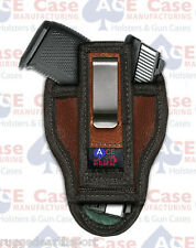 Tuck-able IWB Leather Concealed Carry Ambidextrous Holster Fits Sig Taurus S&W M