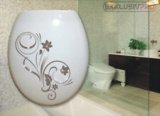 Swarovski Strass Blumen WC Deckel Toiletten Aufkleber Tattoo Ornament Bad Klo 07