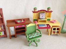 Fisher-Price Loving Family Dollhouse Furniture Living Room Home Office