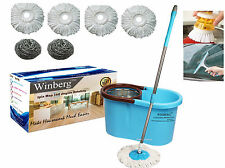 Winberg (TM) Magic Mop stainless steel dryer 360° Rotating Pole Clng Combo Pack
