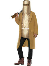 Men's Wild West Ned Kelly Outlaw Faux Armour Adult Costume Size Large