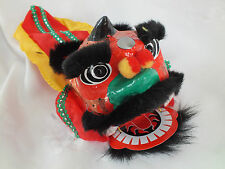 CHINESE BLACK LUCKY DRAGON LION HEAD DANCE HAND MUPPET PUPPET NEW YEAR PARTY C2
