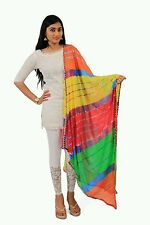 Women's tradional ethnic clothing apparel lehriya Dupatta / stole -Multicolour