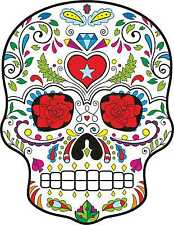 Sugar Skull Vinyl Exterior Car Sticker Decals Mexican Day of the Dead Graphics