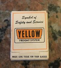 """1960S Yellow Freight System Lens Tissues 2.5"""" X 3.5"""""""