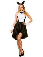 Sexy Bunny Hostess Girl Costume Ladies Tuxedo Fancy Dress Easter Playboy Outfit