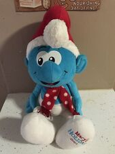 "AdORaBLe 2010 Macy's Holiday Christmas Santa SMURF Plush Toy Doll 21"" Big"