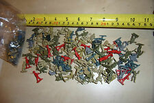 BUNDLE JOB LOT OF 115 x OLD PLASTIC TOY MICRO MACHINE SIZE (ie SMALL) SOLDIERS