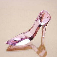 Crystal Shoe Ornament Glass High Heel Cinderella Shoes Christmas Gift With Box