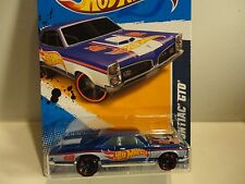 2012 Hot Wheels #173 Blue '67 Pontiac GTO w/Red Rim Wheels