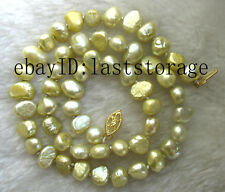 freshwater pearl baroque  champagne necklace 16inch nature wholesale beads fashi
