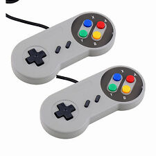 2 x Super Nintendo Famicom SF SNES PC Controller Gamepad Joypad USB Windows