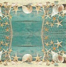 2 Serviettes en papier étoile de Mer Decoupage Paper Napkins Starfish
