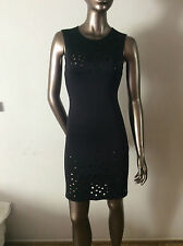 NWT CLOVER CANYON black laser cut neoprene dress size S - $316