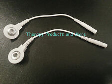 2 Electrode Lead Wire Cable Adapter Converter Pin Snap Connect Connection White