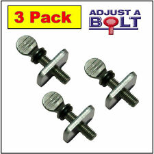 ADJUSTABLE FIN BOLT, 3 Pack, Stainless, Easy Adjustments, Thumb Screws, Save $$$
