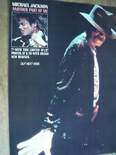 MICHAEL JACKSON - MAGAZINE CUTTING (FULL PAGE ADVERT) (REF XG1)